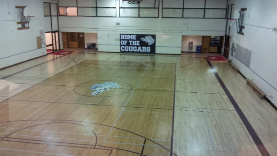 Gymnasium at the Victoria Avenue East Campus in Brandon, MB.