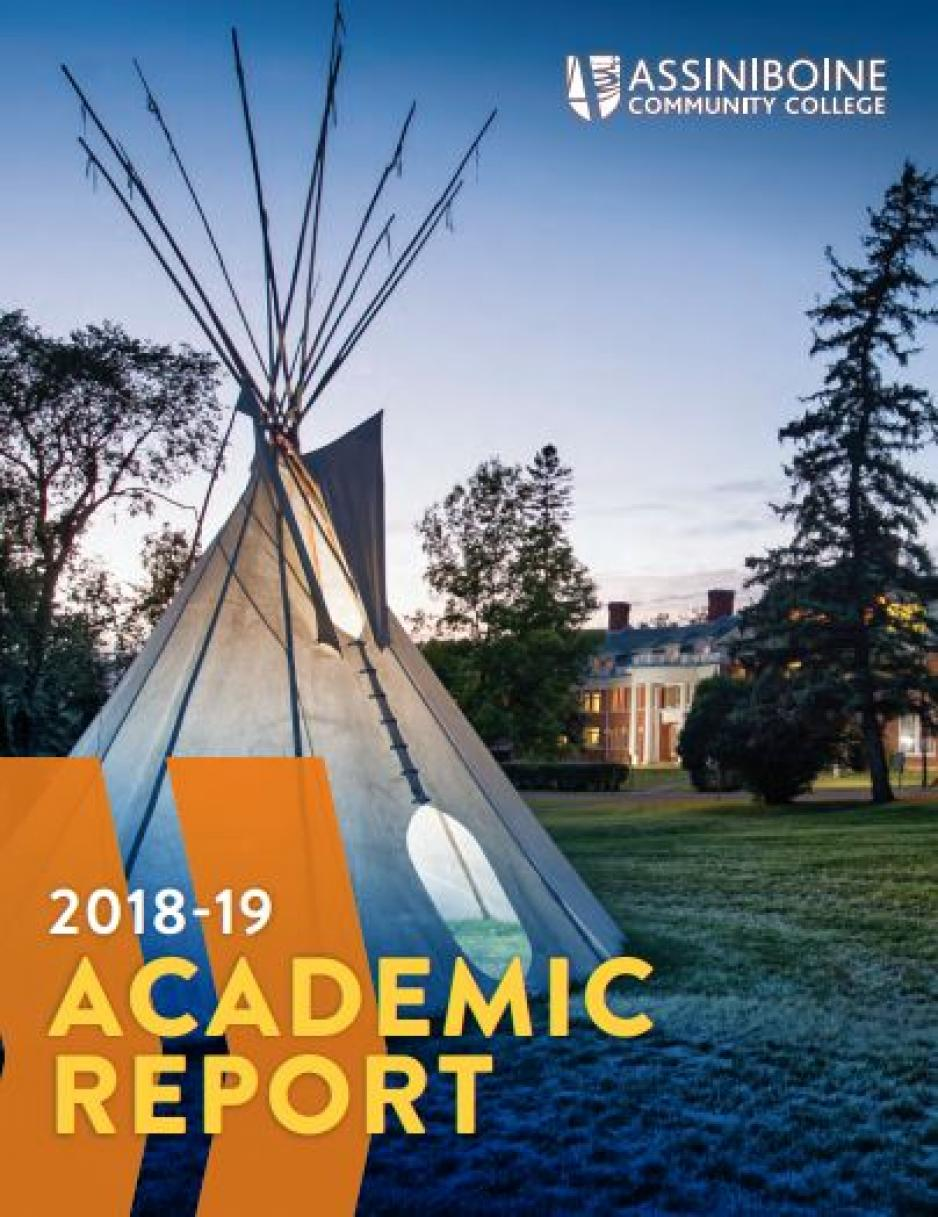 Academic Report Cover image with tipi.