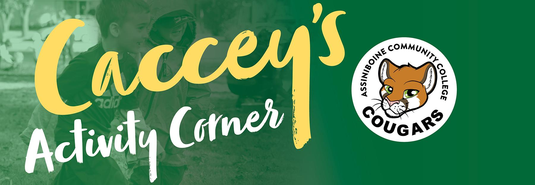 Caccey's Activity Corner banner.